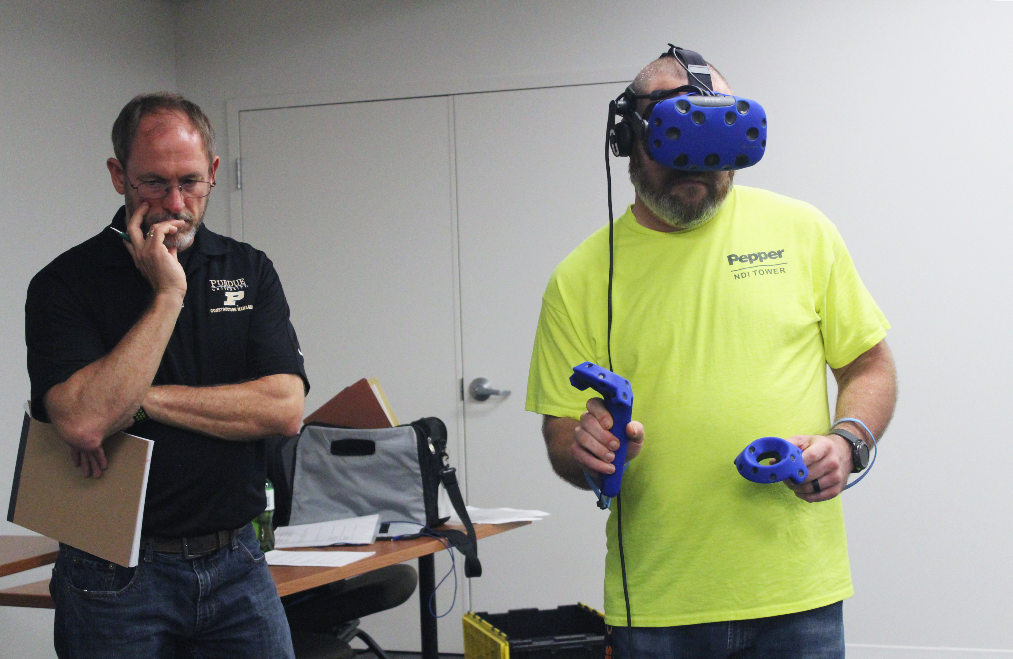Pepper tests Purdue's VR safety modules