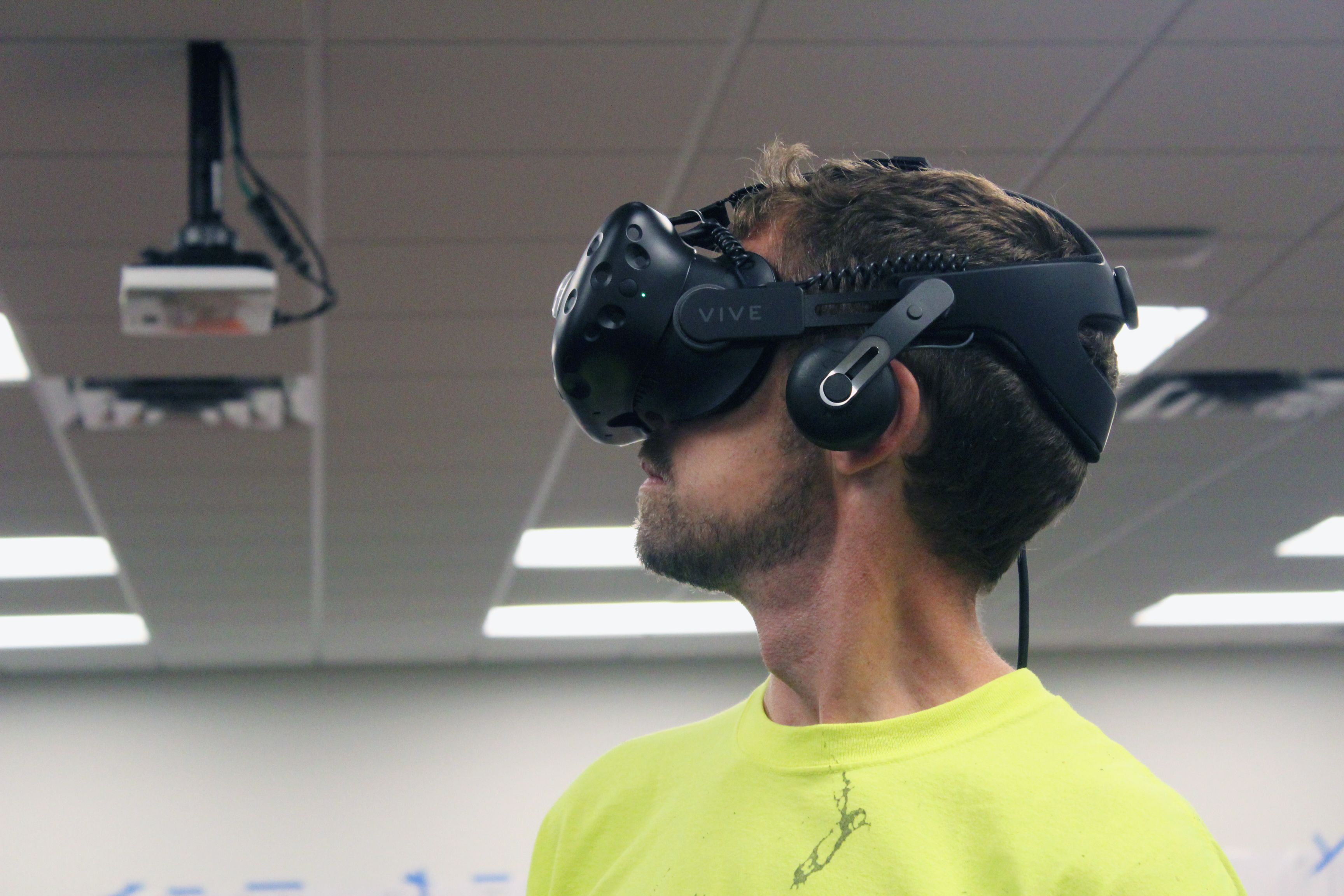VR headsets can guide users in safety training