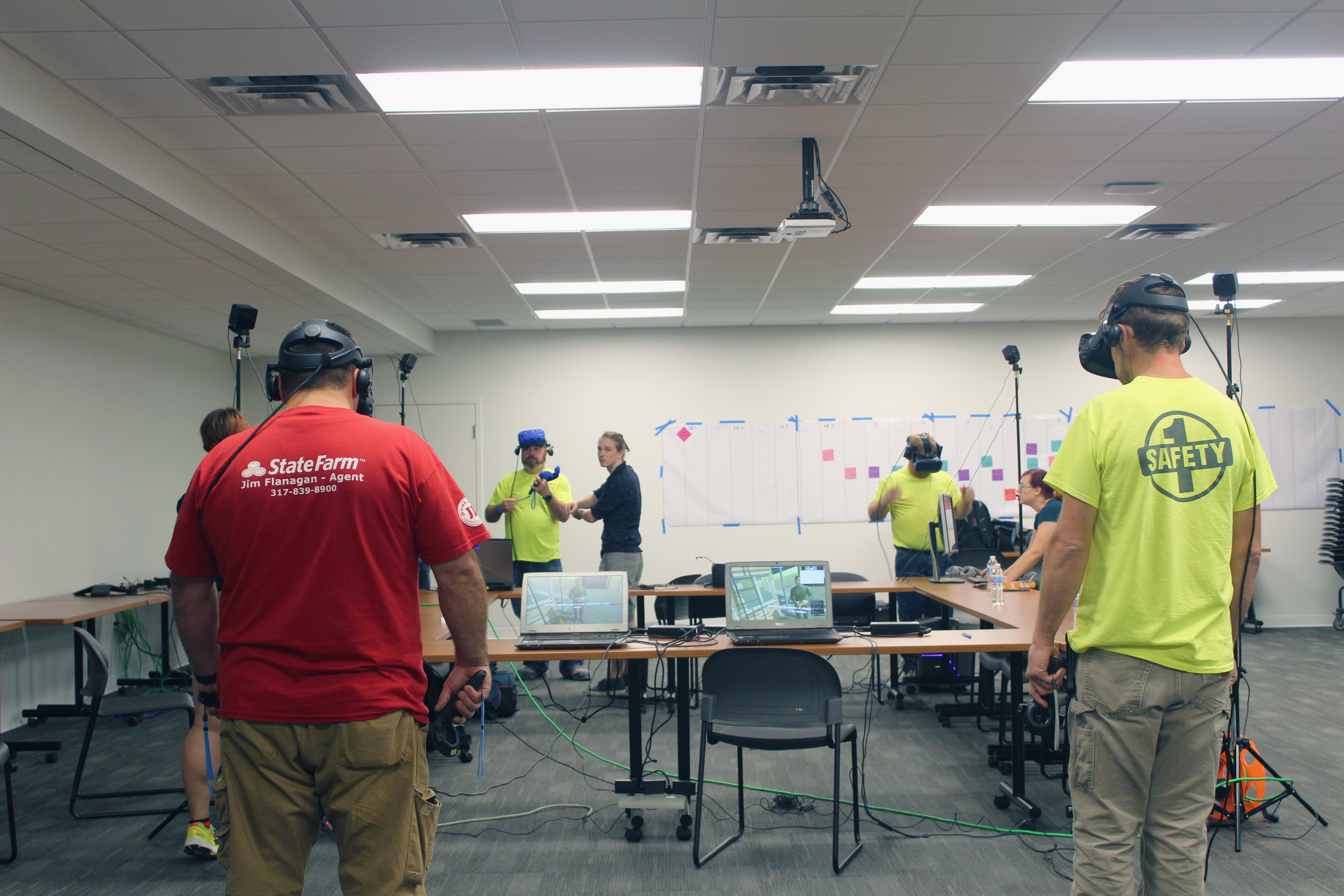 Four Pepper carpenters tested Purdue's VR fall protection safety training modules