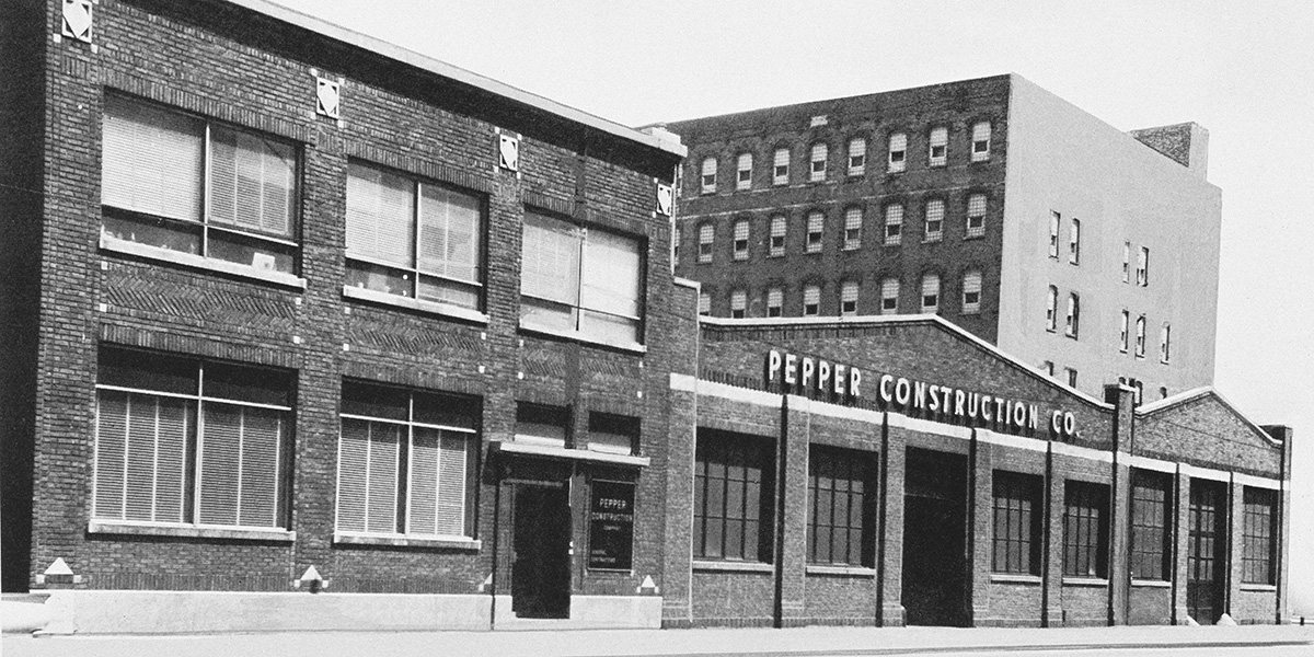 Pepper Construction Company early days