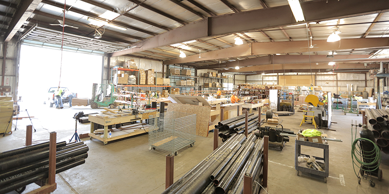 Prefabrication shop