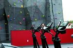 Huff Athletic Center climbing wall