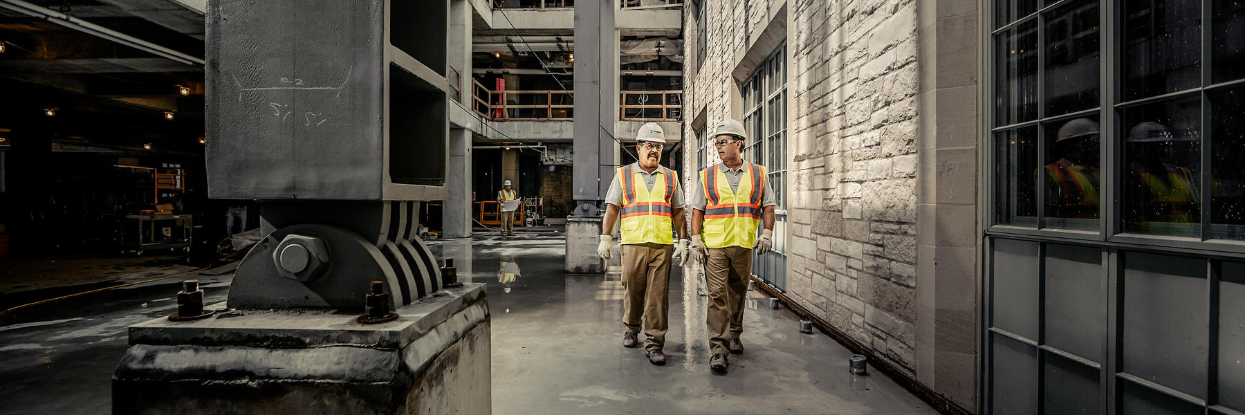4 Construct Workers Walking