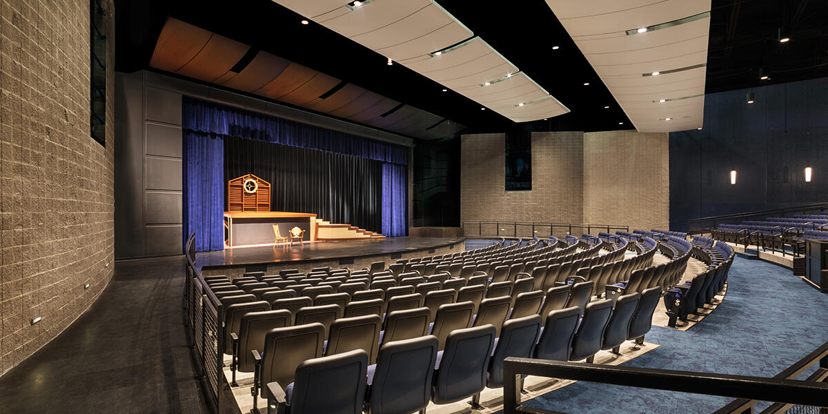 View of Cary-Grove Theater stage from the audience's perspective