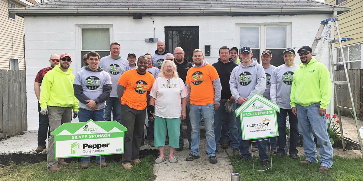 Pepper volunteers participate in community service with Rebuilding Together every year