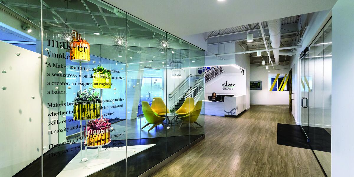 Wilton Brands office lobby