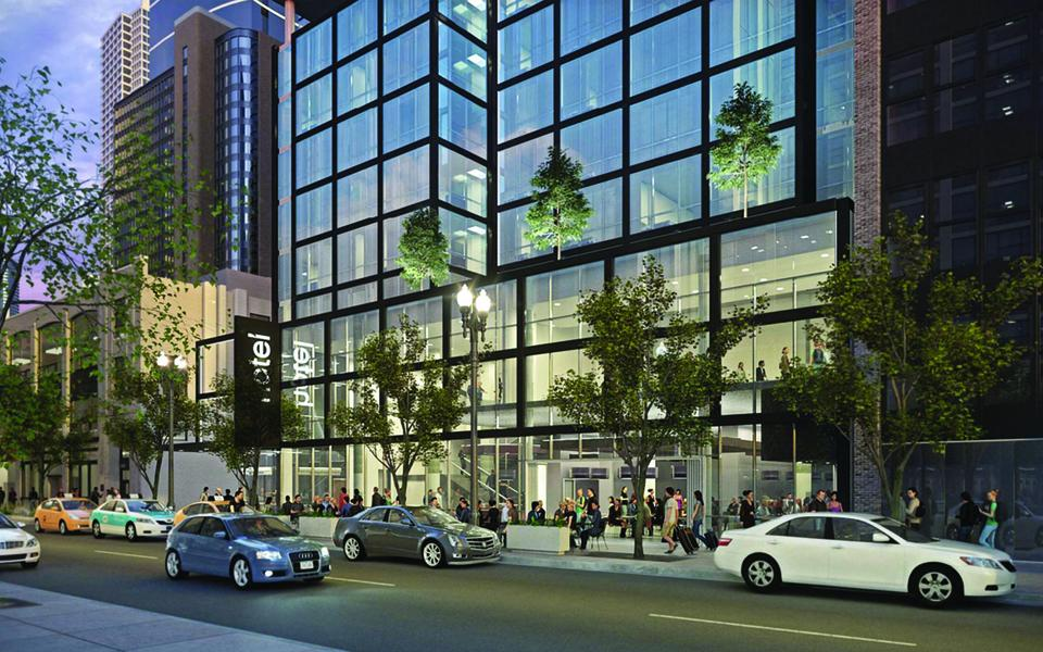 Aloft hotel Chicago rendering